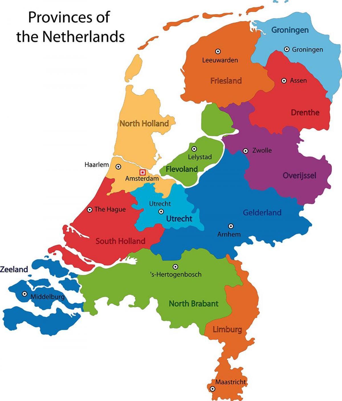 Alankomaiden Maakunnat Kartta Kartta Alankomaiden Maakunnissa